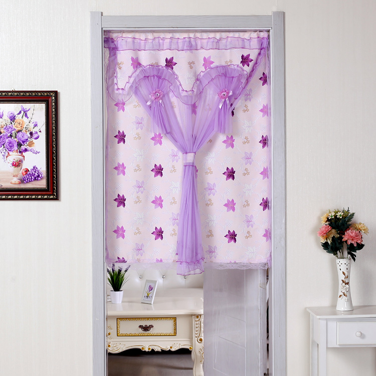 Bedroom kitchen curtain cloth curtain curtain curtain half bathroom partition decoration curtain curtain shade half