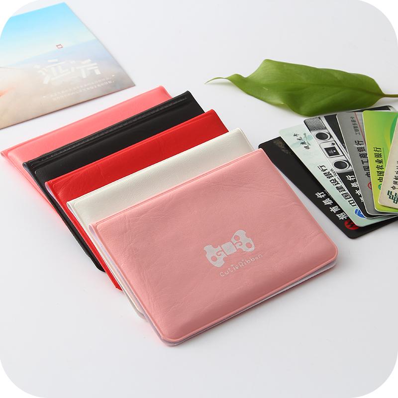 韩国可爱皮质时尚淑女风格蝴蝶结卡包银行卡包女式公交卡套多卡位