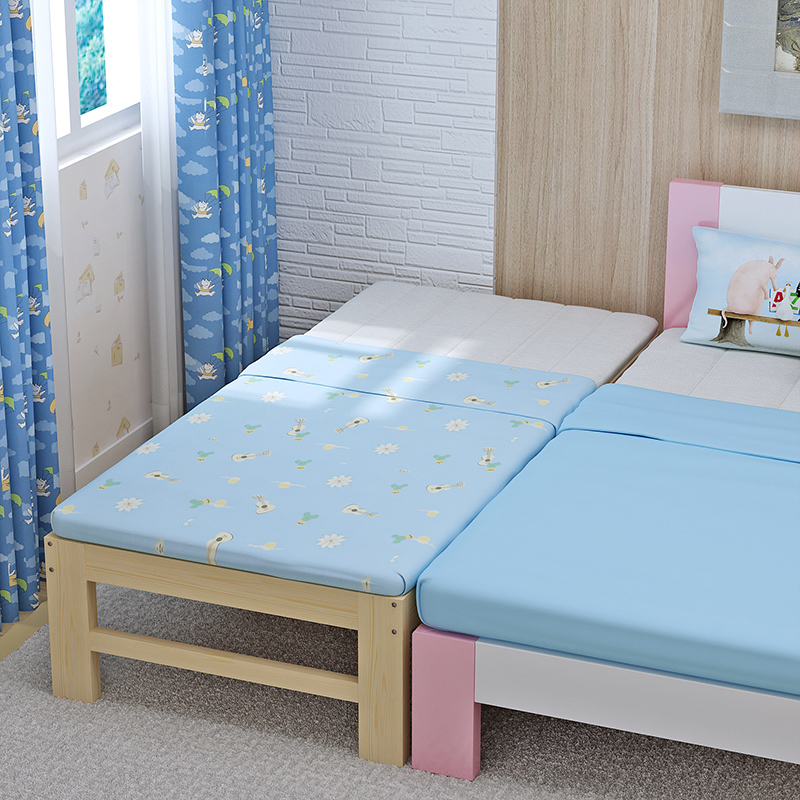 Bed widening, splicing bed, customized solid wood lengthened bed, pine bedstead, children's single bed, double widened bed can be customized