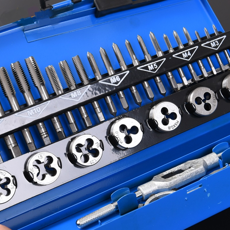 Tap and die set high speed steel plate of stainless steel tapping hand tap tool holder