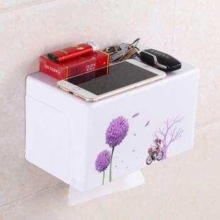 实用免打孔卫生间纸巾盒塑料厕所浴室厕纸盒防水手纸盒卷纸纸巾架