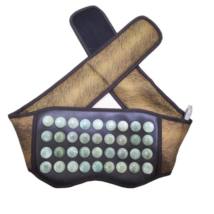 規格品の玉電気加熱保健ベルト暖かい宮暖かい胃を電気保温蛇紋石の一種暖かい腹護電気護腰ベルト