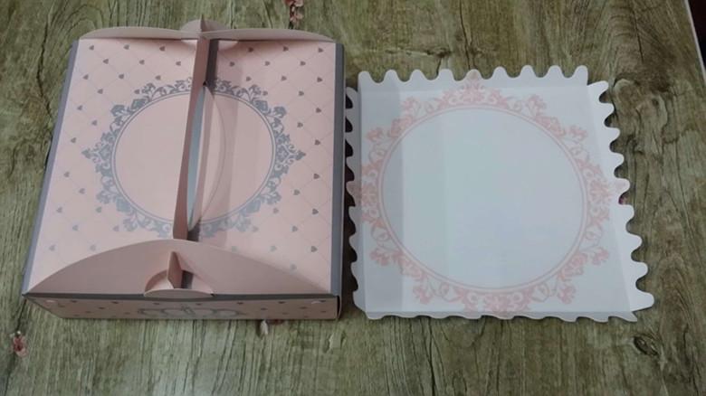 8 tomme bærbare ost kage æske mousse kage snack - emballage æske med west point - pakke -