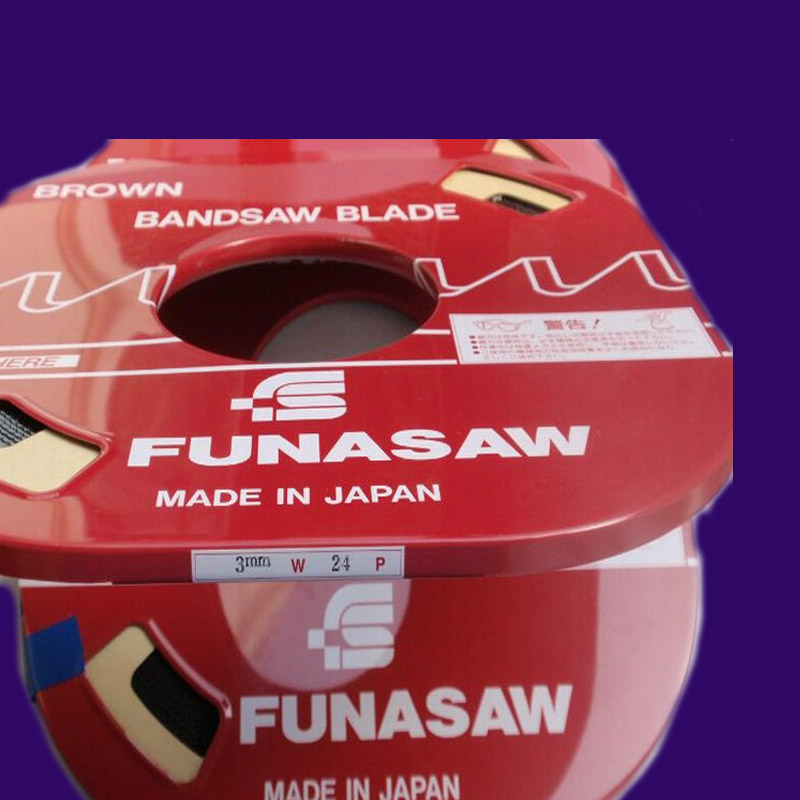 Japan imported FUNASAW metal band saw blade saw dribbling machine single metal blade with a chainsaw.