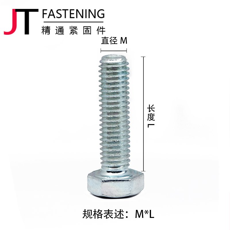 Outer six corners screw 8.8 grade galvanized high strength six angle bolt M6/M8/M10/M12/M14/M16/M20