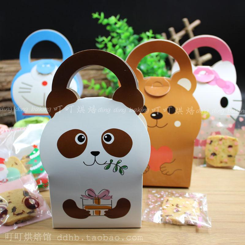 скачок милых маленьких животных коробку печенья ящик нуга Уэст - Пойнт, коробка торт шесть стилей факультативным небольшой ящик