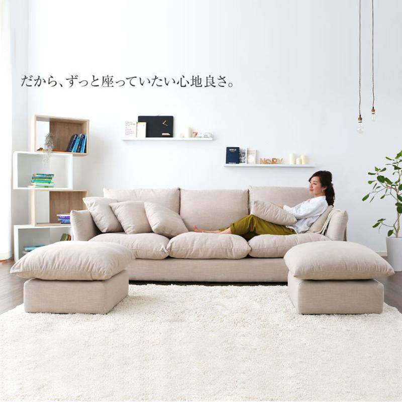 北欧家具布製ソファベッドの小型リビングソファがカジュアルなソファー洗い張り