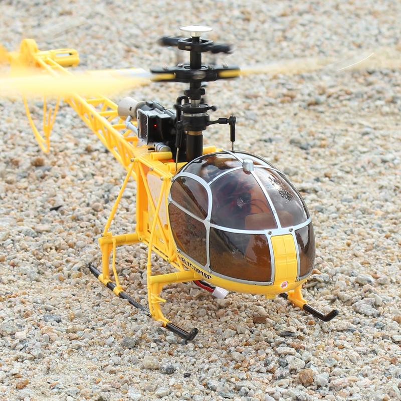Weili V915 helicóptero de cuatro canales grande, juguetes de aviones de control remoto de un solo brazo Rama LAMA aviones no tripulados
