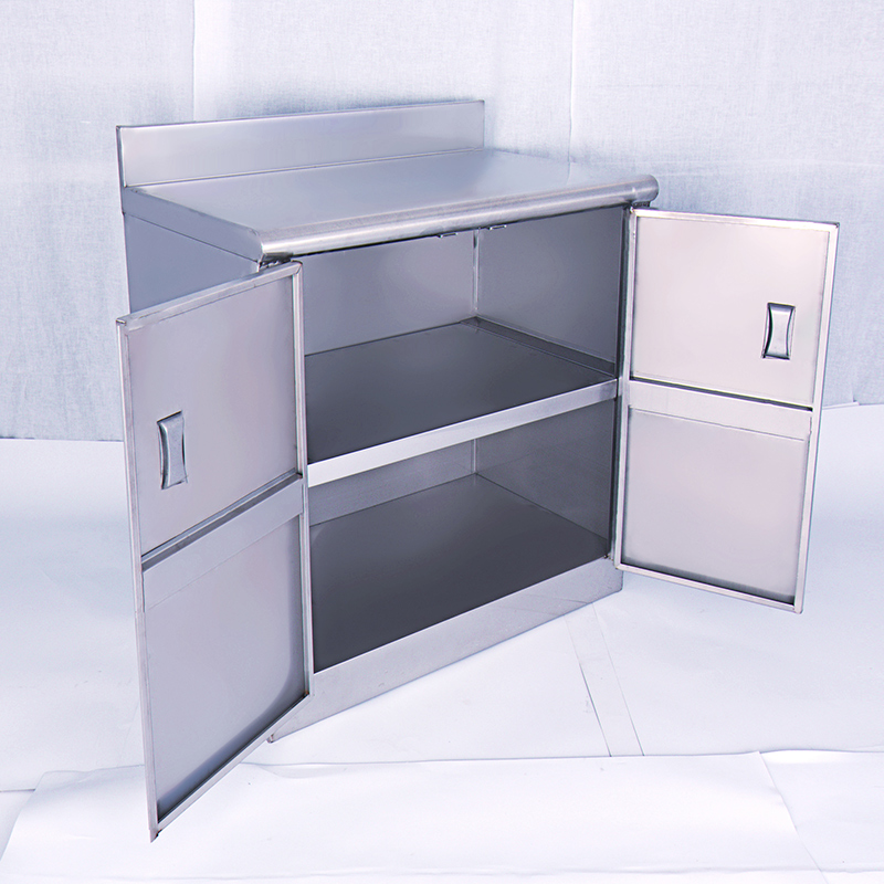The whole stainless steel kitchen cupboard cabinet cabinet simple kitchen cabinet storage cupboard sideboard made of stainless steel