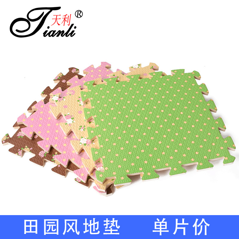 The puzzle thickened climbing pad pastoral style tatami cartoon child baby crawling mat mats send edge stitching