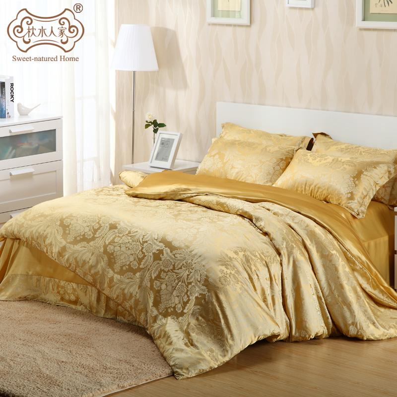 IL cuscino di SETA Suite doppio lenzuola di SETA in Acqua La città una serie di Quattro Pezzi di 100% SETA una Speciale Borsa posta