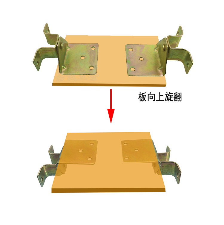 Dining table rotary hinge folding folding plate hinge invisible hinge cabinet hardware fittings hinge 180 degree turning hinge