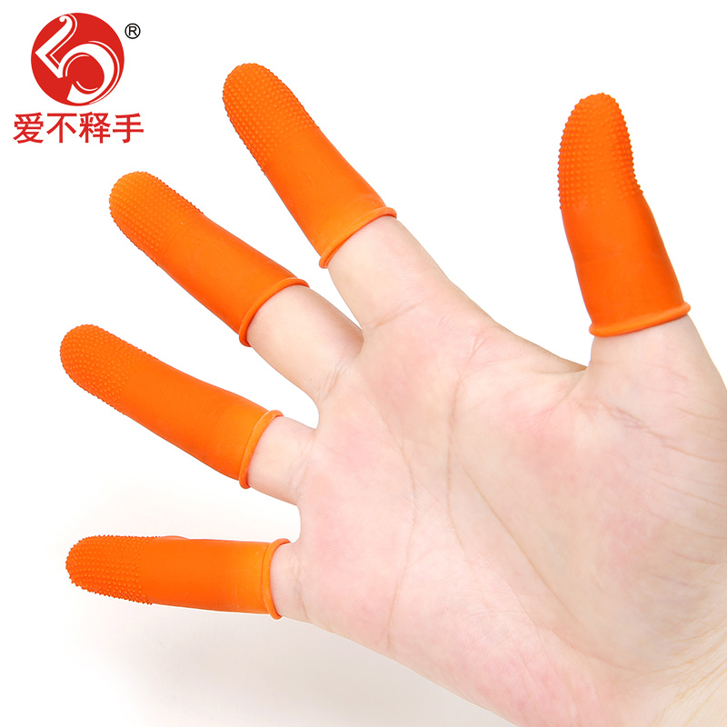 Thickening slip proof slip proof rubber latex finger set, counting money, labor protection, agricultural finger picking gloves