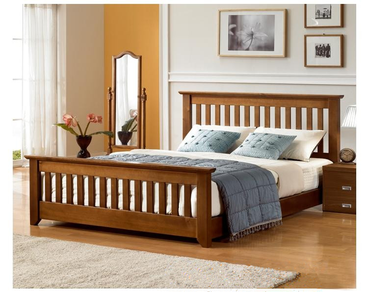 Furniture specials, adult bed, single bed, double bed, children's bed, solid wood bed, pine bed 1.01.21.51.8