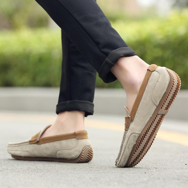 أحذية الرجال أحذية جلدية الخريف متجمد دودو ذكر الشباب الترفيهية البريطانية أحذية الكسول جوكر Lefu الغزال الأحذية الأحذية الجلدية