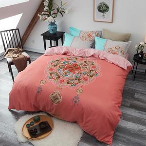 加厚A版纯棉B版水晶绒欧式床上四件套冬季1.5/1.8m单双人床单被套