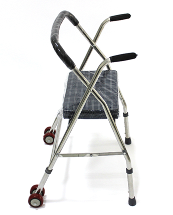 rostfritt stål för äldre personer med funktionshinder booster walker walker walker en gåstol DG-75 fyra