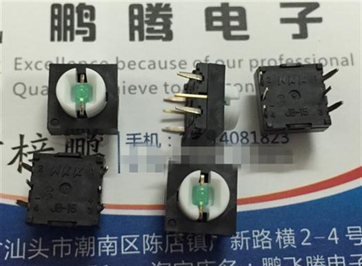 Οι εισαγωγές ιαπωνικών NKKJB-15LMP2 τακτ. 10 x 10 0 κουμπί πράσινο φως χωρίς καπέλα με λάμπα