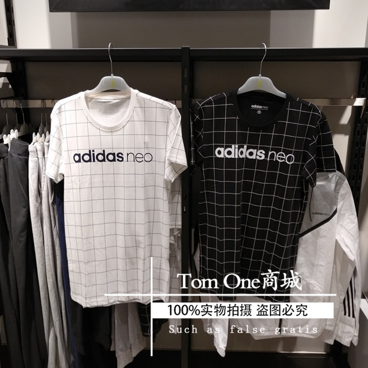 Adidas Neo hombres del deporte de ocio y una camiseta de manga corta BQ6855CD3230 2017 de otoño