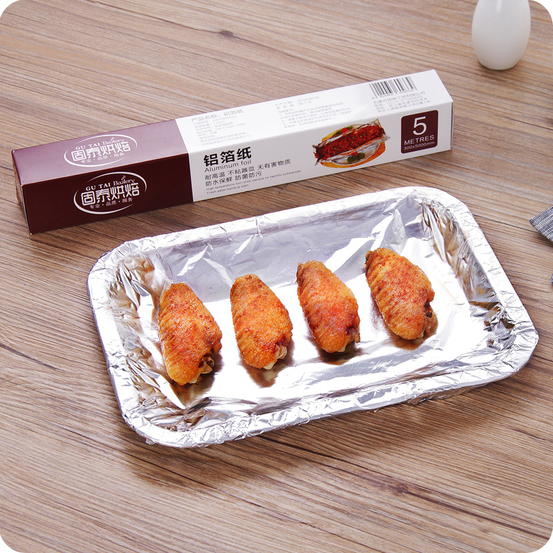 утолщение фольгу жареные куриные крылышки в печь барбекю барбекю бумаги выпечки рыба на гриле фольгу фольгу выпечки толь