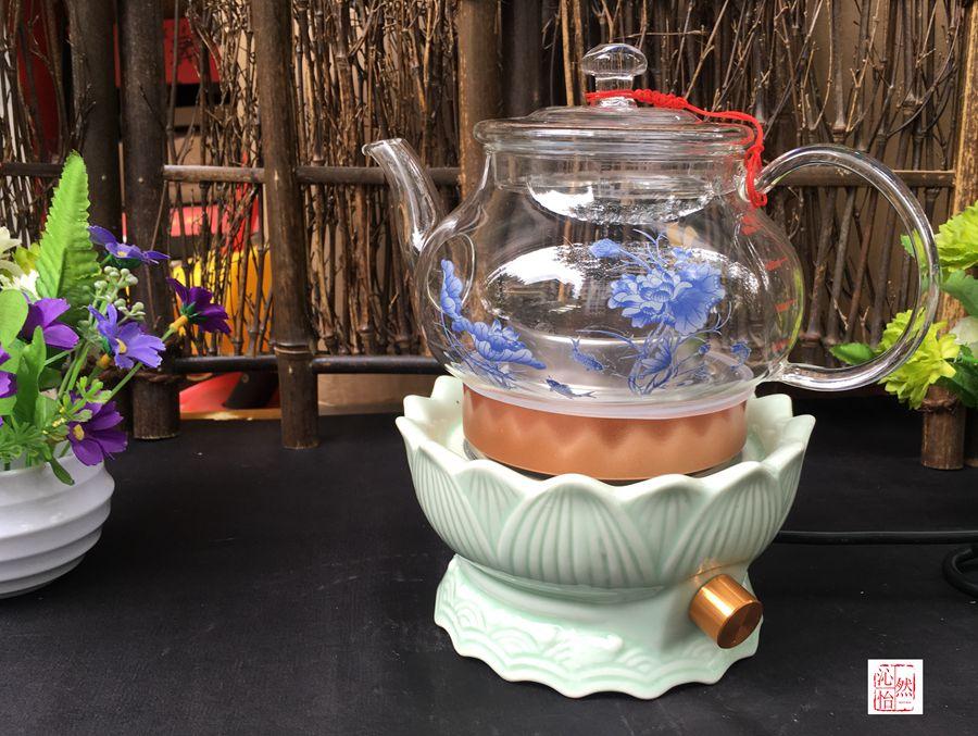 Horno eléctrico, horno de cerámica - hervidor eléctrico transversal a los pies de loto rápido de agua hirviendo, hervidor de agua
