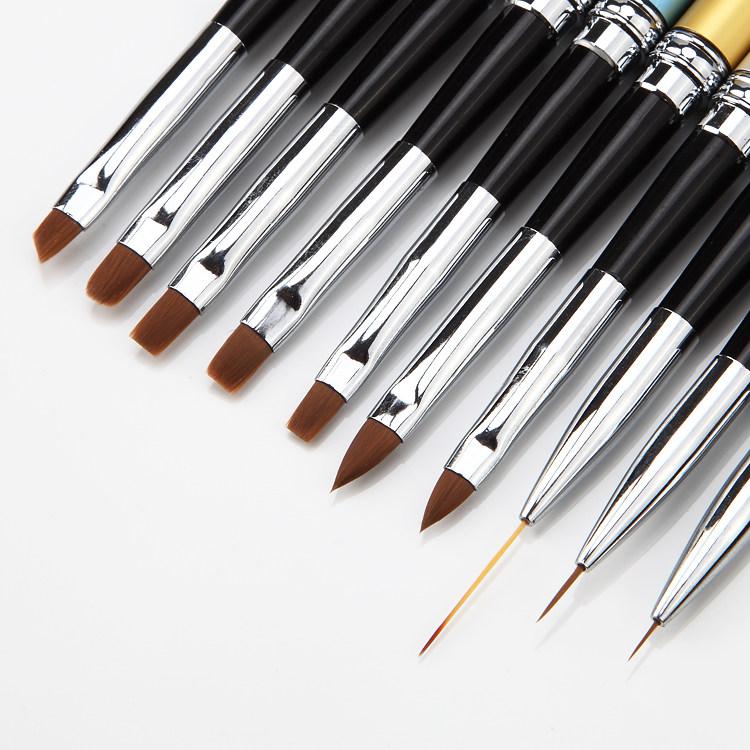 Manicure rivestiti rivestiti di tutta una serie di strumenti di Manicure pennelli fototerapia Colla Penna Mink dipingere la Penna per principianti di Cristallo