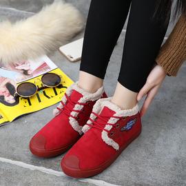 2017冬季原宿风韩版加绒豆豆鞋