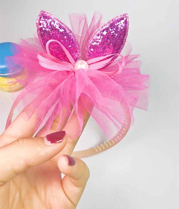 子供の髪飾り姫韩国超カチューシャ布仙可愛い帯歯スリップ洒落レースヘアピンアクセサリー