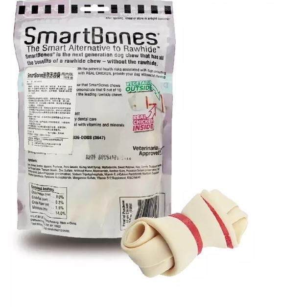 Se puede mencionar la limpieza de Estados Unidos SmartBones snacks para perros perro muerde perro gel dental molar mal aliento dientes amarillos.