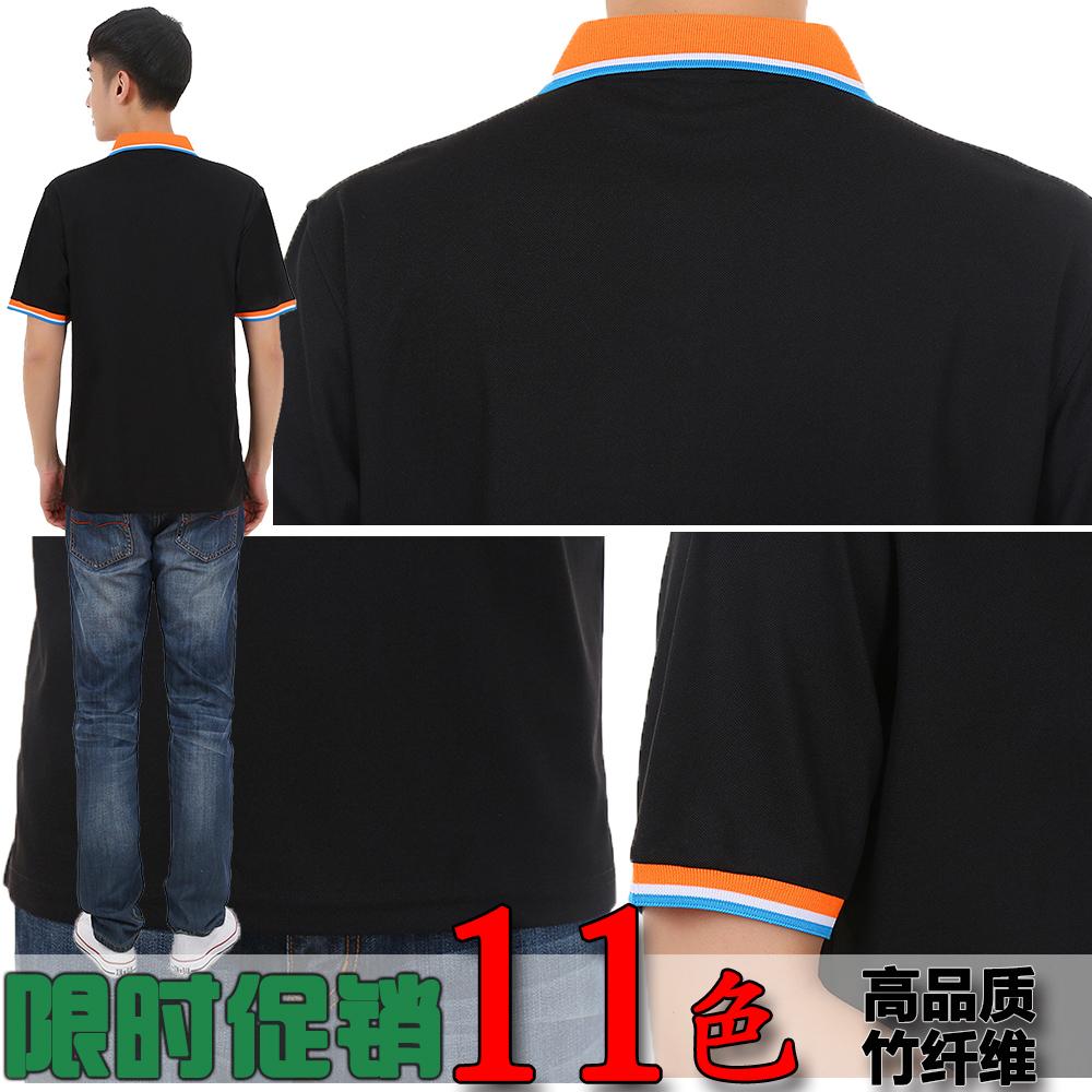 ชายและหญิงในชุดทำงานแขนสั้นปกเสื้อโฆษณาเสื้อยืดที่กำหนดเองเสื้อยืด DIY ชุดทำงานกะชุดทีมของโรงเรียน