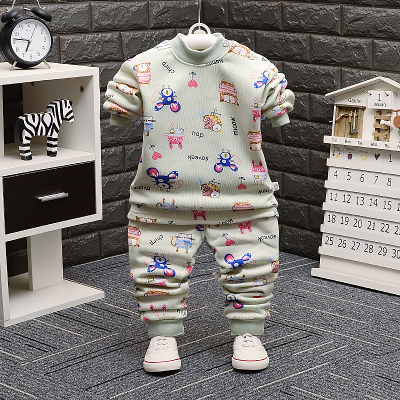 天天特价宝宝保暖内衣套装加绒加厚男童女童秋衣裤儿童1-3-5-7岁