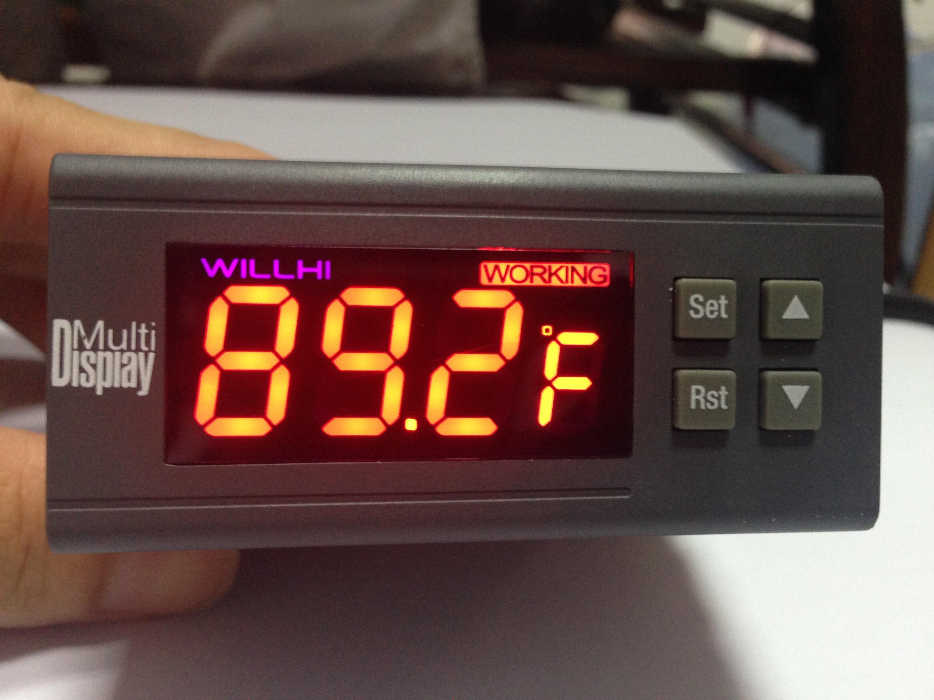 Visualizzazione intelligente di termostato, Squadra di termostato, il controllo della temperatura di riscaldamento e raffreddamento WH7016S+%