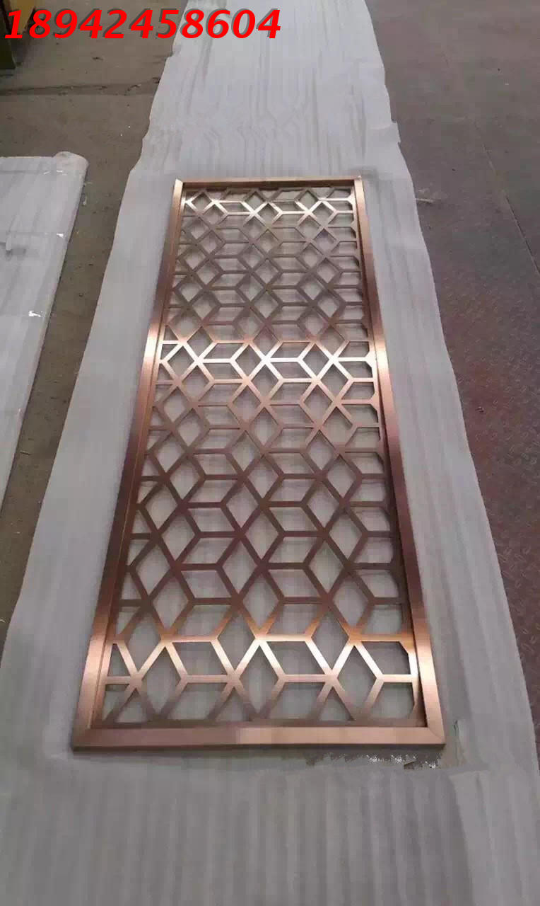Direct selling stainless steel screen, custom rose gold partition hollow, new Chinese living room entrance decoration