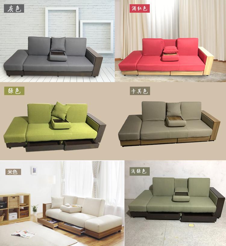 Το μικρό μέγεθος και τον καναπέ - κρεβάτι ύφασμα πτυσσόμενο καναπέ όλο αποθήκευσης ο καναπές συνδυασμό 1,8 m απλό