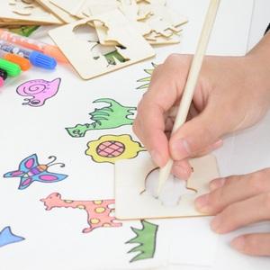 儿童学画画工具套装宝宝涂鸦绘画模板幼儿园涂色填色拼图早教玩具