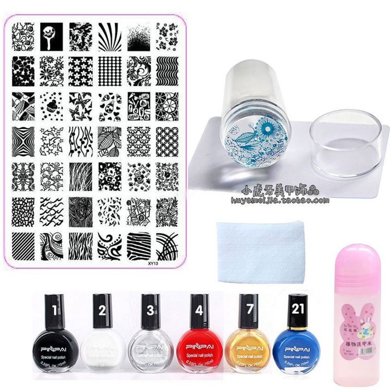 Nail tool kit, printing plate full set of blue film template, beginners shop decals transfer