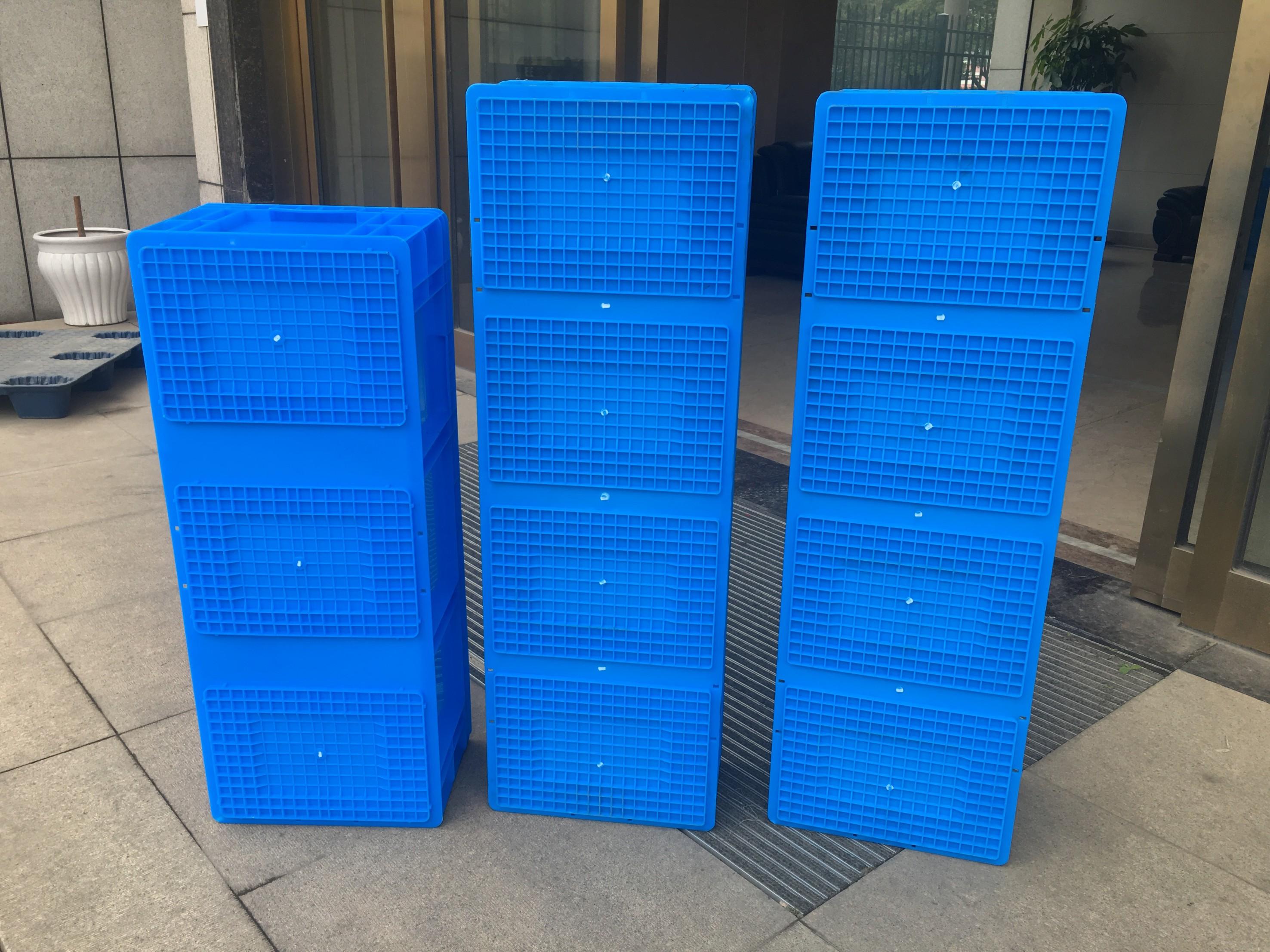 1メートル1メートルのプラスチック箱の回転箱の物流箱の養魚養魚養殖水産の収納する水の箱は郵送します