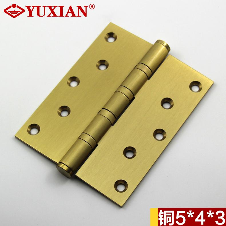 Las bisagras de acero inoxidable de 5 pulgadas de 5 * 4 * 3 puerta de bisagras de bronce y cobre todo el interior de la puerta de bisagra y rojo