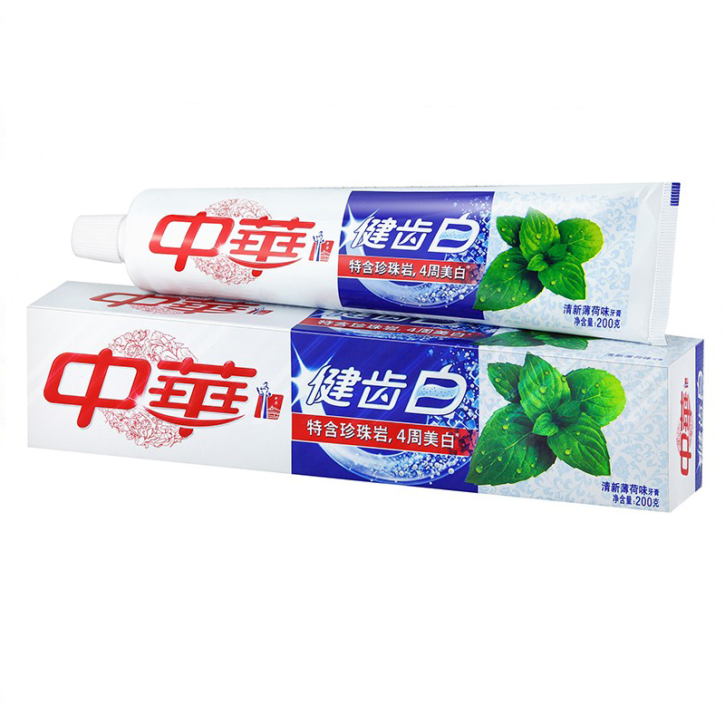 китайската паста за зъби се бели свеж ментов вкус за избелване на зъбите и укрепване на 200 грама перлит