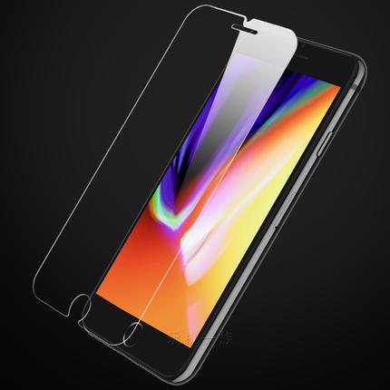 妙质苹果钢化膜iphone 6s 8 7 10 plus透明手机保护膜高清贴膜5SE
