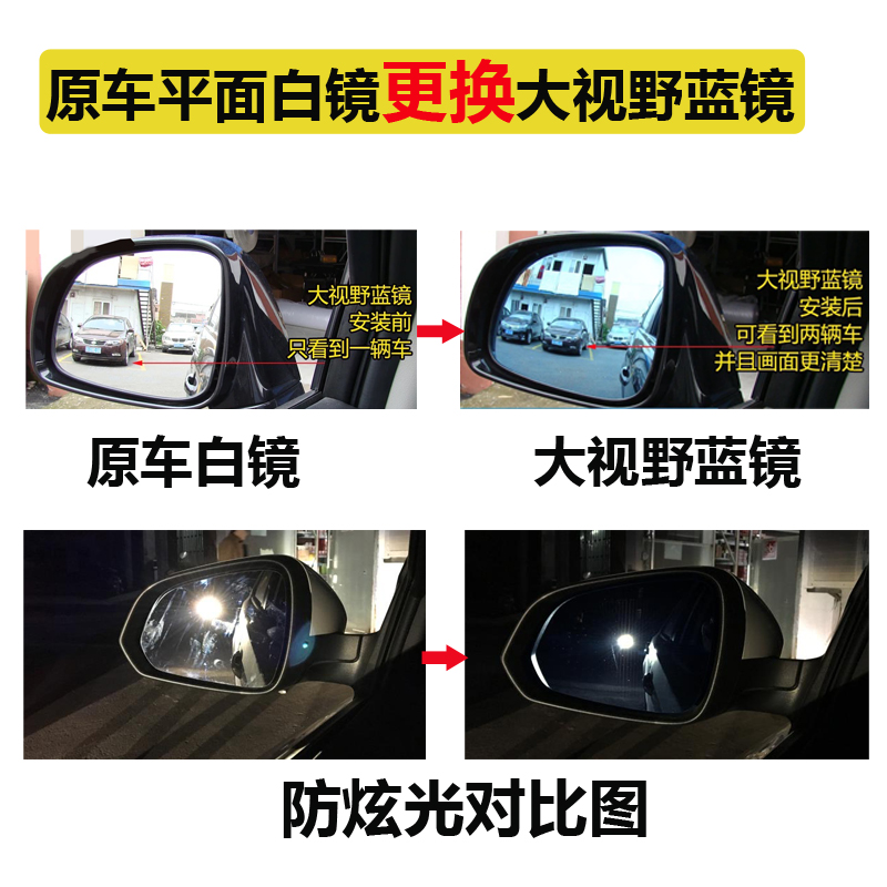 Ford Fox winning car rearview mirror heating mirror anti glare vision mirror glass