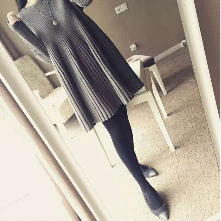 Special offer every day fat mm autumn dress female 2017 new fat sister all-match long sweater 200