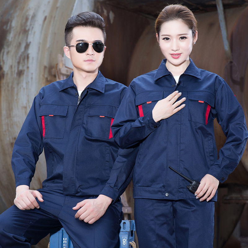 Spring and autumn long sleeved overalls suit, men and women auto repair overalls, coverall, factory clothes, engineering suits, labor insurance suits