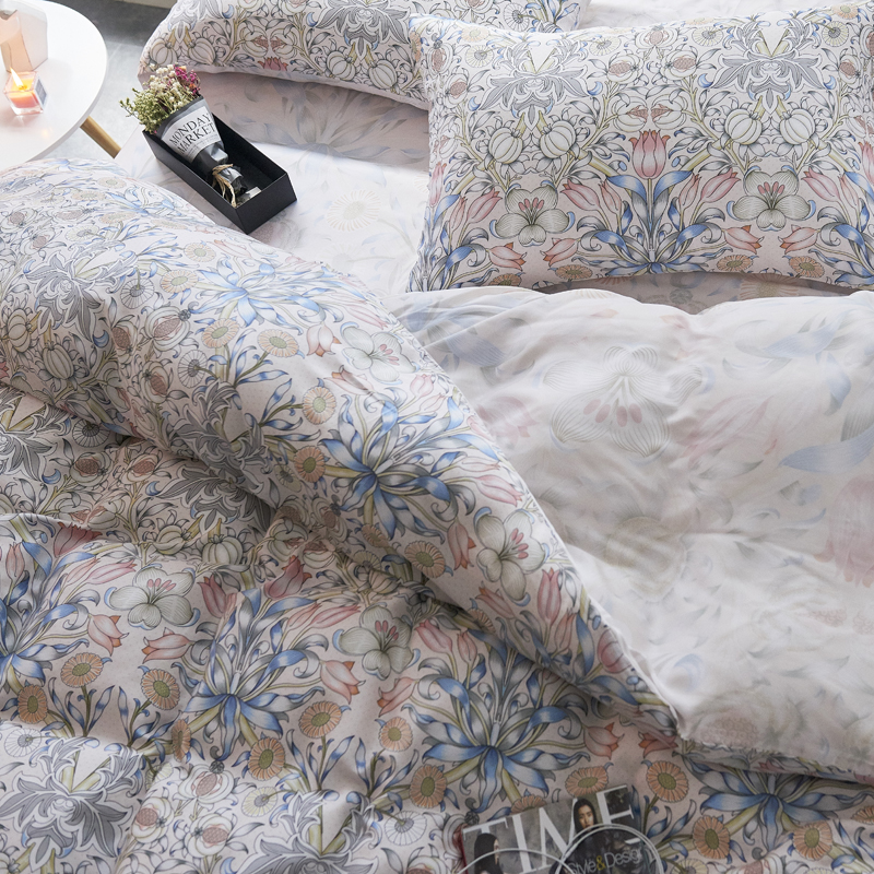 Genuine silk four piece 100% pure Tencel Tencel bedding quilt fitted 1.8m bed sheets in summer