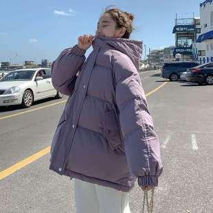 韩版冬季新款短款棉衣女羽绒棉服外套