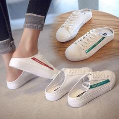 夏季新款2020韩版外穿平底凉拖无后跟鞋包头半拖鞋女运动系带鞋女价格比较