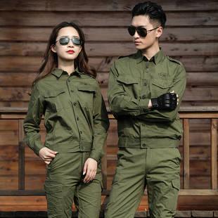 夏季军绿色男女迷彩服焊工耐磨劳保服单件可选棉线薄款工作服套装