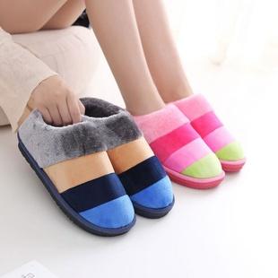 男冬包跟保暖鞋棉拖鞋带后跟棉拖棉鞋男女家居鞋男士毛毛拖鞋冬季