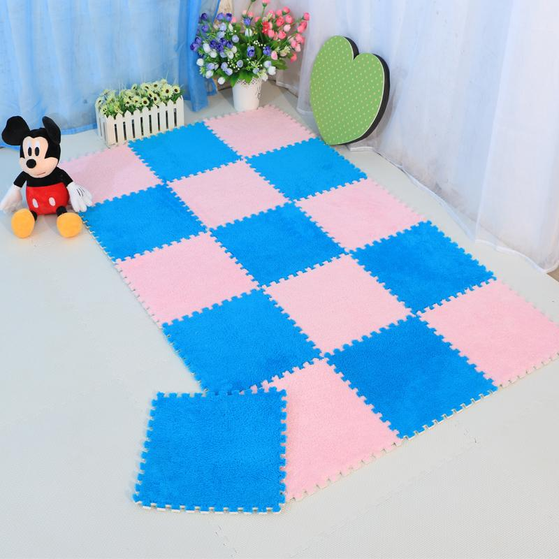The whole package of 10 pieces of thick carpet wool suede stitching the bedroom windows mat floor mat tatami puzzle