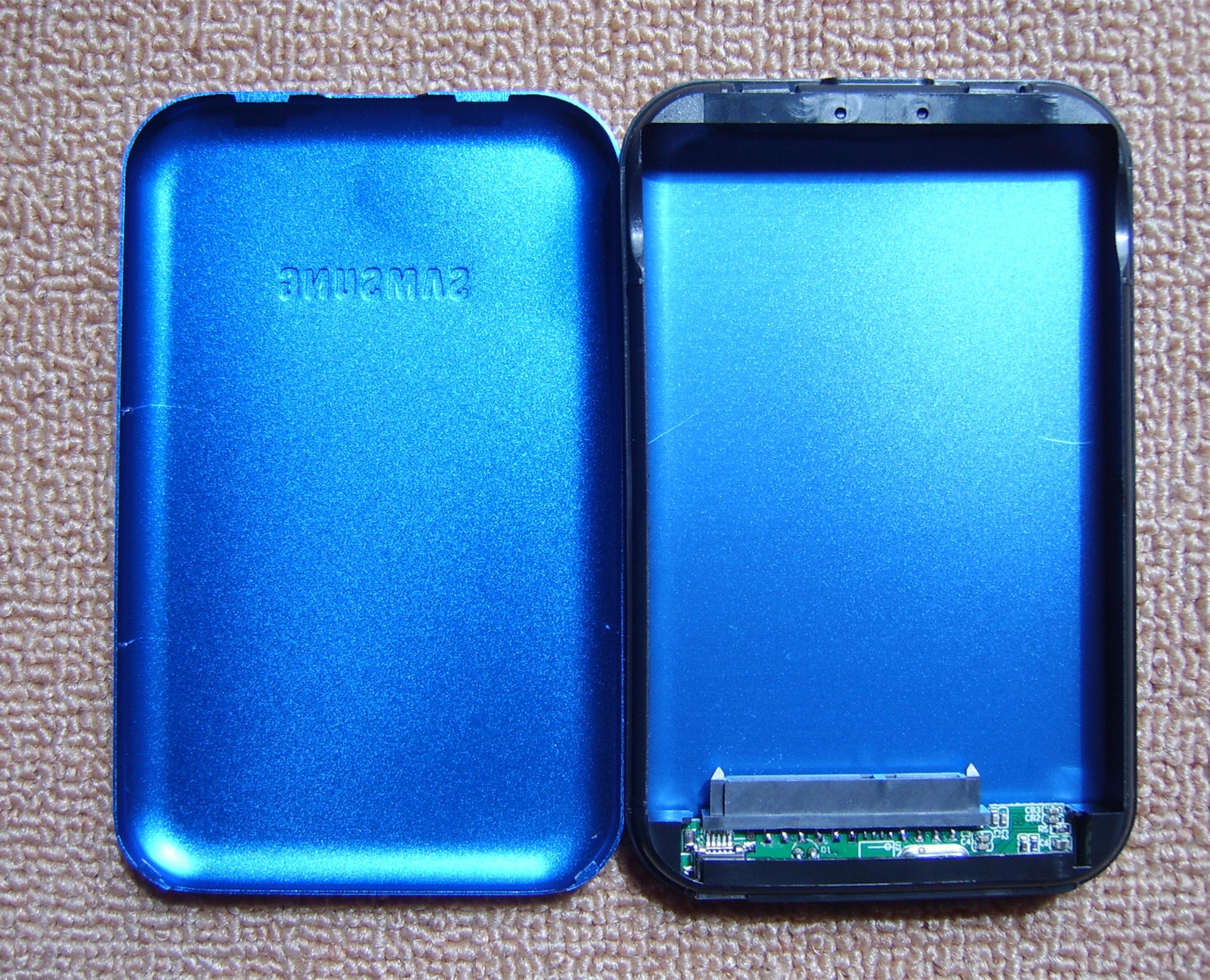 La cartouche de disque dur mobile 2,5 pouces SATA ultra - mince d'alliage d'aluminium sans vis de montage et de démontage de colis USB2.0